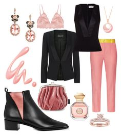"""Party in pink..."" by dtlpinn on Polyvore featuring Acne Studios, Balmain, Racil, Balenciaga, Humble Chic, Effy Jewelry, Tory Burch, Frederic Sage, FACE Stockholm and Chantecaille"