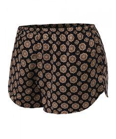 Women's Printed Elastic Waist Short Pant Shorts