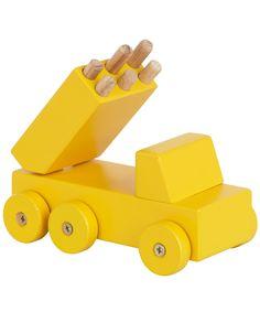 Kidsonroof  Yellow Wooden Katyusha Rocket Launcher