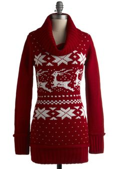 Women's Christmas Tunic Sweater | Happy Holidays | Pinterest