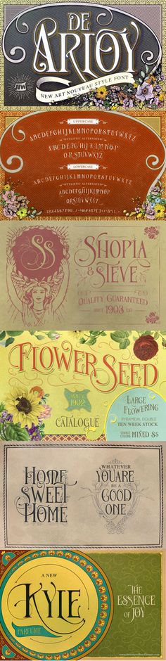 De Arloy Typeface was inspired by art nouveau style from 1890-1910 which…
