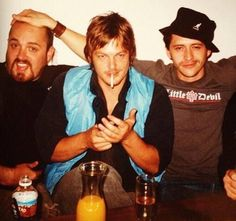 Norman Reedus with Troy Duffy and Clifton Collins Jr. Walking Man, Fear The Walking, Norman Reedus, Attractive Male Actors, Clifton Collins Jr, Sean Patrick Flanery, Murphy Macmanus, Maggie Greene, People