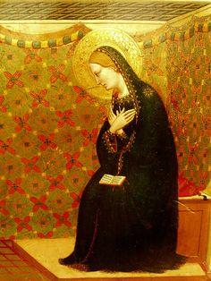 Bernardo Daddi ~ The Annunciation (detail), c.1335