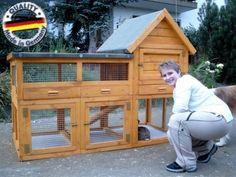 """Hasenstall, Kaninchenstall """"Fiver-Plus"""" günstig online kaufen bei Ronalds Holzladen, geprüfter Händler bei Yatego.com (Yatego Produktnr.: 4bb75a0547395)"""