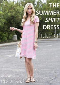 20 Dress Tutorials and Free Sewing Patterns Summer Shift Dress Tutorial:: Elle Apparel Sewing Patterns Free, Free Sewing, Clothing Patterns, Dress Patterns, Free Pattern, Dress Tutorials, Sewing Tutorials, Sewing Projects, Diy Projects