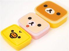 Rilakkuma bear face Bento Box Lunch Box.