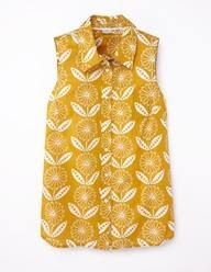 Love this print and style. Sleeveless Shirt