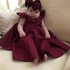 ceb1dccbf Burgundy girls dress ruffle girl dress wine red dress baby girl dress girls  size 7 burgundy baby dress cute girl dress toddler ruffle dress in 2019 ...