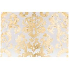 """Cream, Silver & Gold Damask Canvas Art, 24x36""""   Hobby Lobby (tiny speckles on cream background, silver pattern, gold leaf over silver pattern)"""