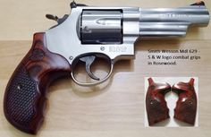 Smith and Wesson Mdl 629 with Round Butt combat grips - Smith and Wesson Conversion grips in rosewood.  Please visit our store! http://stores.ebay.com/gcesports/    http://stores.ebay.com/gcesports/