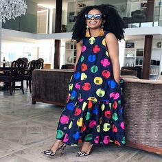 Load image into Gallery viewer, African Casual Maxi Hippie Dress - kats African Dresses For Women, African Attire, African Fashion Dresses, African Women, Fall Dresses, Pretty Dresses, Casual Dresses, Holiday Dresses, Hippie Dresses