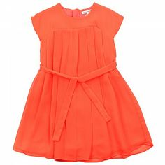 Fluro Coral Girls Shift Dress FRENCH CONNECTION