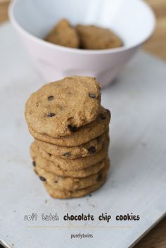 #paleo soft batch chocolate chip cookies recipes via @purelytwins