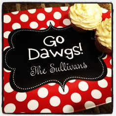 Personalized Georgia Go Dawgs Melamine Platter