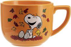 Hallmark Oversized Peanuts Mug, Large, Harvest Leaves, Peanuts Cartoon, Peanuts Snoopy, Coffee Box, Coffee Mugs, Mickey Bathroom, Snoopy Mug, Cute Cups, Charlie Brown And Snoopy, Family Halloween Costumes