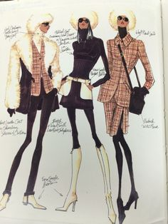 Design Sketches that I did when I found out that Patrick Robinson was coming to design Anne Klein Collection page 2