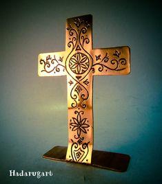 Artizani romani | Cruce crestina din cupru by hadarugart