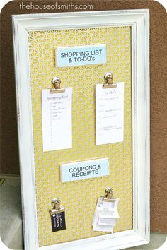 Great magnetic board for kitchen     #diy