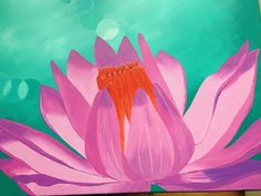 Water Lily Painting by Wendy Sinclair - finally finished!!