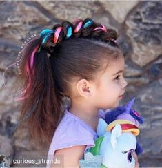 Unicorn Hairstyle Unicorn Party In 2019 Hair Styles Wacky Hair - crazy party hairstyles dinner party hairstyles Wacky Hair Days, Crazy Hair Days, Crazy Hair Day At School, Unicorn Birthday, Unicorn Party, Crazy Birthday, Unicorn Costume, Headband Hairstyles, Cool Hairstyles