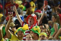An US fan cheers during a Group G football match between Ghana and US at the Dunas Arena in Natal during the 2014 FIFA World Cup on June 16, 2014. - AFP