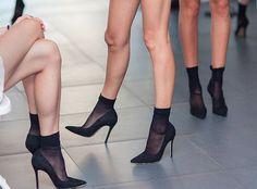 Bildresultat för nylon socks pumps