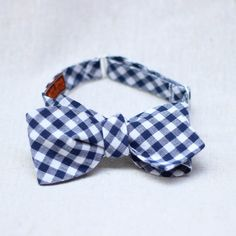 hand crafted bow tie in traditional blue gingham, made in new mexico #bowtie #newmexico #madeinamerica