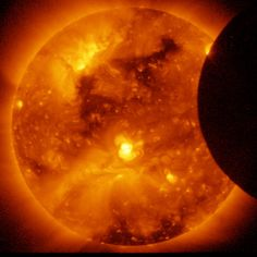 The joint JAXA/NASA Hinode mission captured this image of the January 6, 2011 solar eclipse.