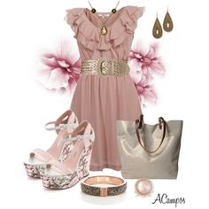 Blush For Spring by anna-campos on Polyvore