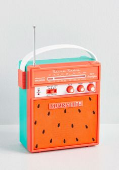 Juicy Jams Radio & Speaker in Red Watermelon Retro, Gadgets, Sunnylife, Posca, Inspired Homes, Bath Decor, Tea Towels, Home Gifts, House Warming