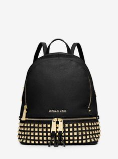 58677efd1fdd Rhea Small Studded Leather Backpack by Michael Kors
