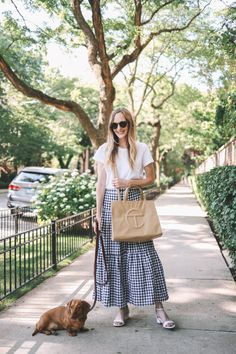 The Telfar Shopping Bag - Kelly in the City | Lifestyle Blog Preppy Dresses, Preppy Outfits, Preppy Look, Preppy Style, Gingham Skirt, New Bag, Vegan Leather, Making Out, Lifestyle Blog