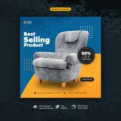 Social Media Post Template For Furniture Sale - Consan Social Media Poster, Social Media Branding, Social Media Banner, Social Media Template, Social Media Design, Graphic Design Flyer, Web Design, Web Banner Design, Web Banners