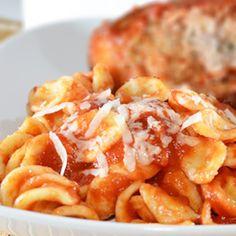 Orecchiette con melanzana ripiena   #recipes #italianfood #pasta