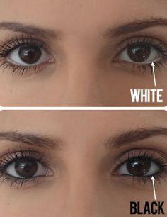 White Eyeliner Over Black Eyeliner ANY DAY - Make Your Eyes Bigger!