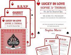Vegas themed wedding on pinterest vegas wedding for Las vegas themed wedding invitations uk