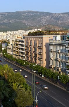 Vasilissis Sofias Avenue in Athens, Attica_ Greece Santorini, Mykonos, Attica Greece, Athens Greece, Cyprus Greece, Kusadasi, Beautiful Islands, Beautiful Places, Places To Travel