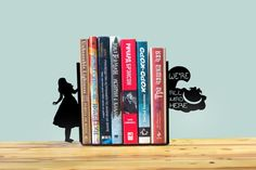 Alice in Wonderland Bookends by StoryHolders on Etsy