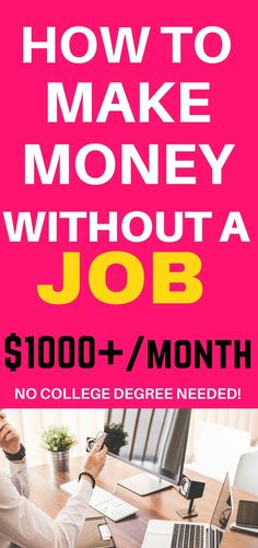 Click through this post to lean how to make money without a job. It is entirely possible to do these days! Make extra money| Make money| Extra cash| Side hustle | Work from home| Make money with surveys |
