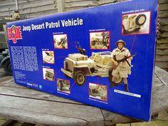 GI Joe - SAS Desert Jeep and 8th Army figure RARE