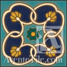 "Malibu Lindero A - 6""x6"" Hand Painted Ceramic Tile"