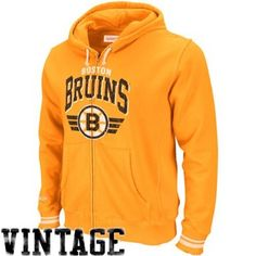 3d38a006dc0 Amazon.com   NHL Mitchell   Ness Boston Bruins Blank Full Zip Hoodie - Gold  (Large)   Athletic Sweatshirts   Clothing