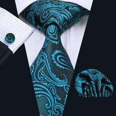 Tie For Men Paisley Silk Jacquard Woven Tie Hanky Cufflink Set For Men Formal Wedding Party Business Free Postage. Product ID: Tie Crafts, Mode Costume, Paisley Tie, Cufflink Set, Mens Silk Ties, Tie And Pocket Square, Pocket Squares, Men Formal, Formal Wear