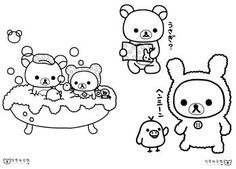 rilakkuma coloring pages google search