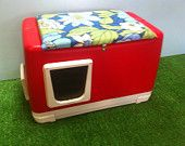 Heated Cat Pod/2 doors Outdoor Cat House/ Heated by stabob on Etsy