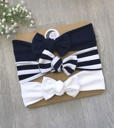 Excited to share this item from my shop: The Navy Set Baby Headband and BowsBuy Now The Navy Set / Baby Headband / Newborn Headband / Baby Headbands / Toddler Headband / Infant Headband / Baby Headwrap / Baby Bows by Make Baby Headbands, Toddler Headbands, Newborn Headbands, Headband Baby, Handmade Headbands, Handmade Baby, Baby Girl Bows, Girls Bows, My Baby Girl