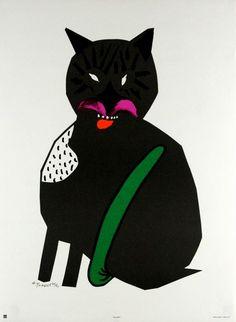 Cat Kot Tomaszewski Henryk Polish Poster