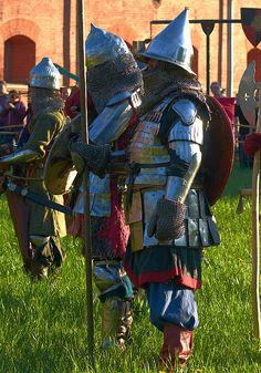 Rus warriors reenactment