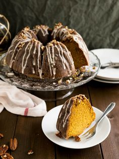 Pumpkin Bundt Cake With Rum Glaze