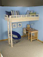how to build a floating loft bed